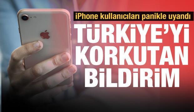 iPhone kullanıcılarına gelen 'Evde kal Türkiye' bildirimi paniğe yol açtı!