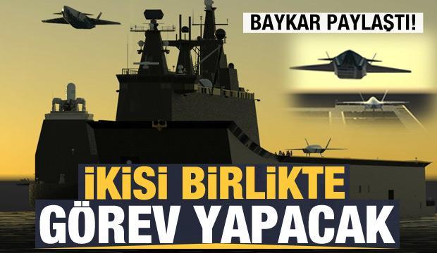 MİUS ve Bayraktar TB3 aynı karede: TCG Anadolu'da görev yapacaklar