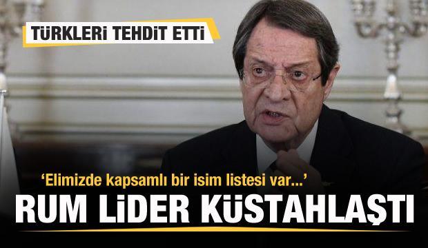 Rum lider küstahlaştı! Türkleri tehdit etti