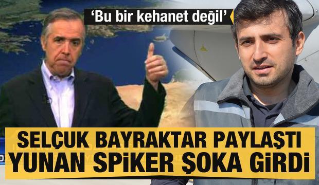 Selçuk Bayraktar paylaştı Yunan spiker şoka girdi: Bu bir kehanet değil, geri dönecekler
