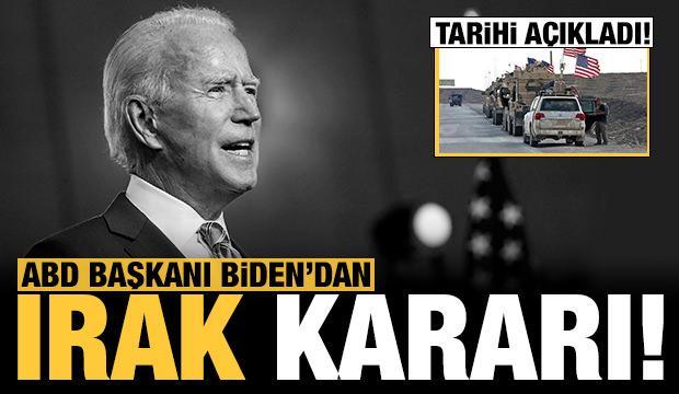 ABD Başkanı Biden'dan Irak kararı!