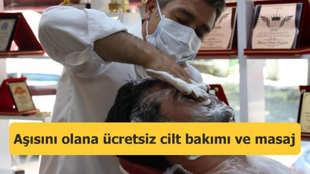 Aşısını olana ücretsiz cilt bakımı ve masaj