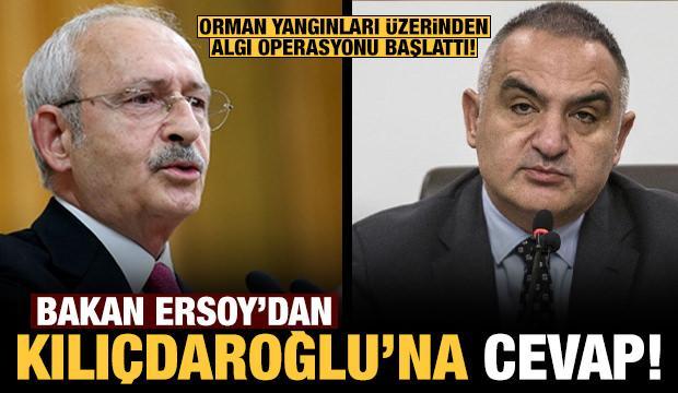 Bakan Ersoy'dan Kılıçdaroğlu'nun orman yangınları üzerinden algı operasyonuna yanıt