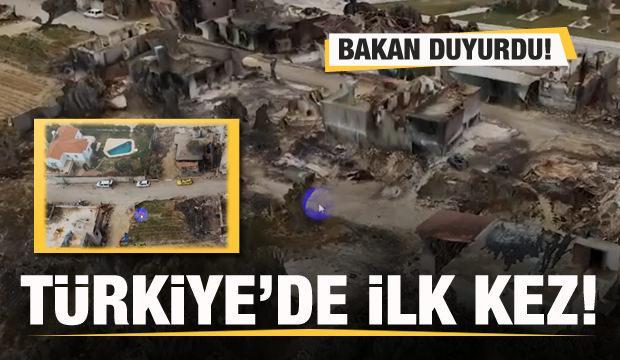 Bakan Kurum paylaştı: Türkiye'de ilk kez