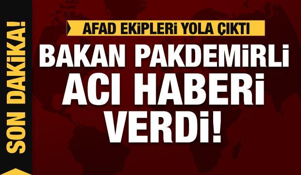 Bakan Pakdemirli açıkladı: 10 kişi mahsur, AFAD yola çıktı!