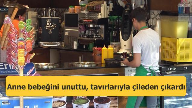Bursa'da inanılmaz olay! Anne bebeğini unuttu, tavırlarıyla çileden çıkardı