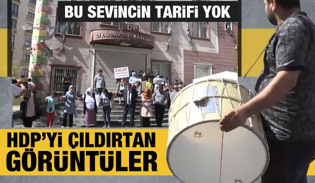Diyarbakır HDP İl Başkanlığı önünde davullu zurnalı eylem