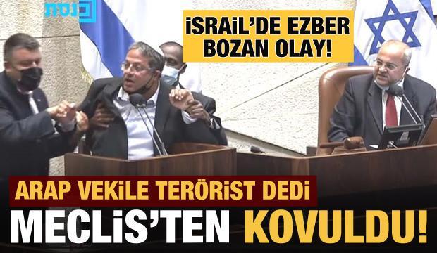 İsrail Parlamentosu'nda Milletvekili Ben-Gvir'i yaka paça kovuldu