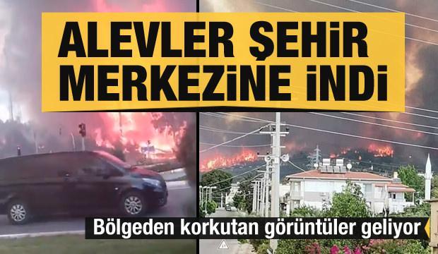 Manavgat'ta alevler şehir merkezine indi! Korkutan görüntüler