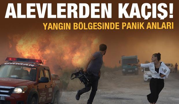 Manavgat'ta panik anları: Can havliyle kaçtılar