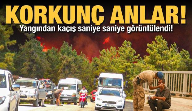 Manavgat'taki yangından kaçış böyle görüntülendi! İşte bölgeden fotoğraflar...