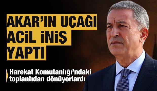 Son Dakika: Bakan Akar'ı taşıyan uçak Adana'ya acil iniş yaptı
