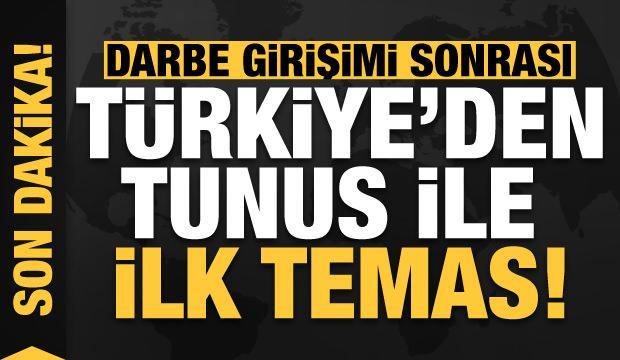 Son dakika: Darbe girişimi sonrası Türkiye'den Tunus ile ilk temas!