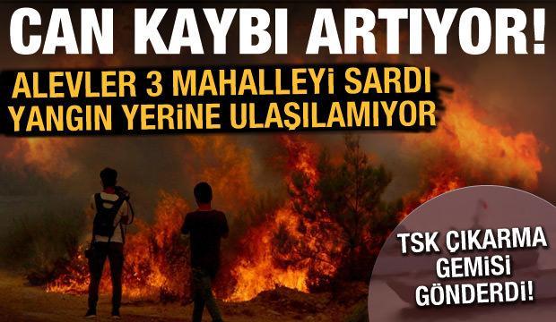 Son dakika haberi: 3 mahalle alevler arasında kaldı, 3 kişi hayatını kaybetti
