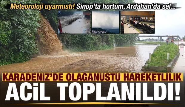 Son dakika: Sinop'ta hortum, Ardahan'da sel! Trabzon, Rize ve Giresun'da acil toplanıldı..