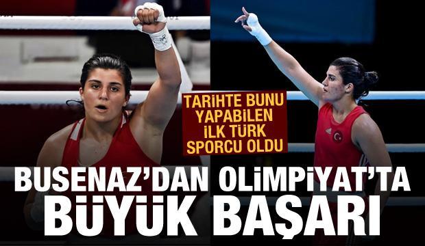 Tarihte bunu yapabilen ilk Türk sporcu oldu! Busenaz'dan Olimpiyat'ta büyük başarı