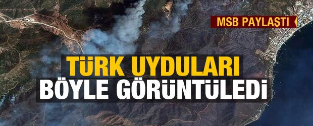 Türk uyduları Manavgat ve Marmaris'teki orman yangınlarını uzaydan görüntüledi