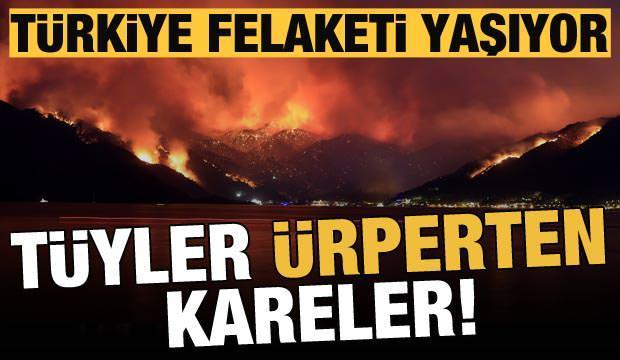 Türkiye felaketi yaşıyor! Hava kararınca yangınların büyüklüğü ortaya çıktı