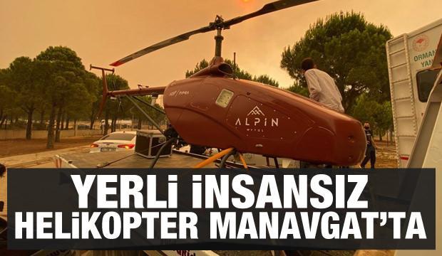 Yerli insansız helikopter Manavgat'ta görevde