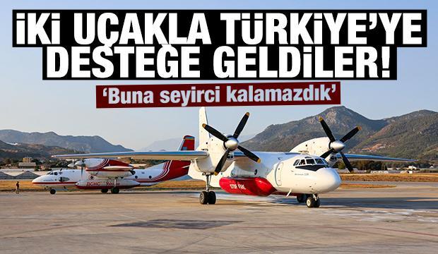 Antalya'daki orman yangınlarına Ukrayna'dan 2 uçakla destek!