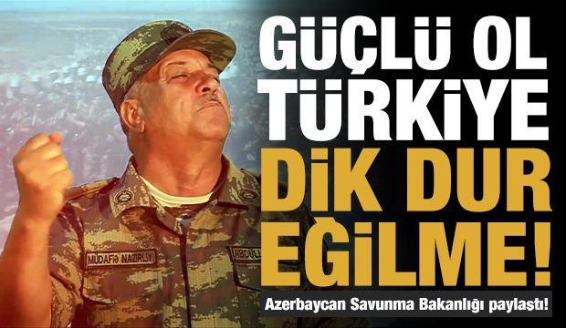 Azerbaycan Savunma Bakanlığı, Türkiye'nin yanında olduğunu gösteren bir klip paylaştı