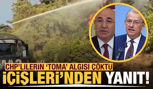 CHP'lilerin 'Toma' algısı çöktü! İçişleri Bakanlığı'ndan açıklama