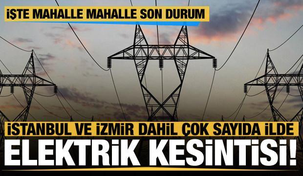 Çok sayıda ilde elektrik kesintileri yaşanıyor! Bakanlıktan son dakika açıklama geldi
