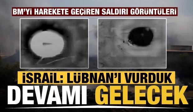 İsrail görüntüleri yayınladı! 'Lübnan'ı vurduk, devamı gelecek'