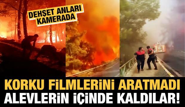Korku filmlerini aratmadı! Alevlerin içinde kaldılar...