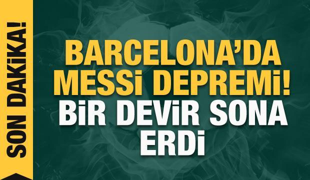 Messi, Barcelona'dan ayrıldı!