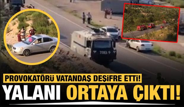 Provokatörü vatandaş deşifre etti: Yalanı ortaya çıktı!
