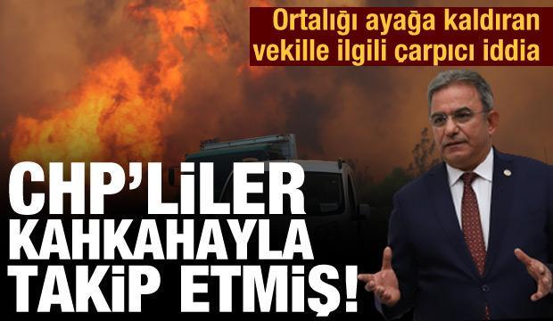 Son dakika haberi: CHP'li vekiller ve il başkanı yangını gülüşerek takip etmiş