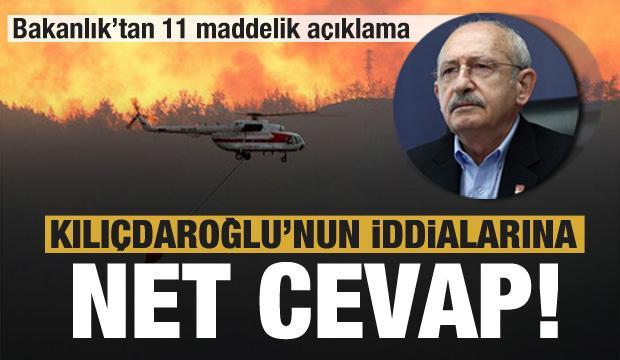 Tarım ve Orman Bakanlığı'ndan Kılıçdaroğlu'nun iddialarına cevap