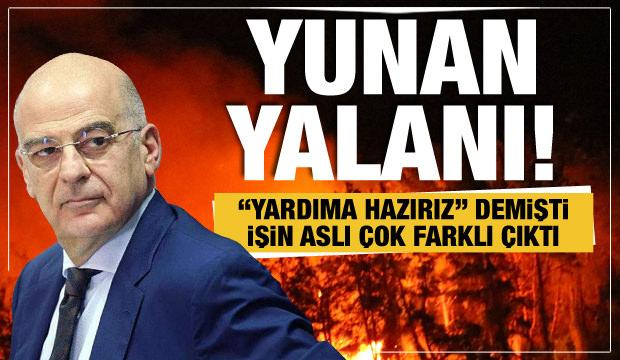 Yunanistan'ın Türkiye'ye 'yardım teklifi' yalan çıktı