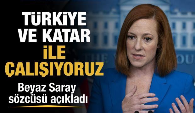 """Psaki: """"Kabil havalimanının yeniden işlemesi konusunda Türkiye ve Katar ile çalışıyoruz"""""""