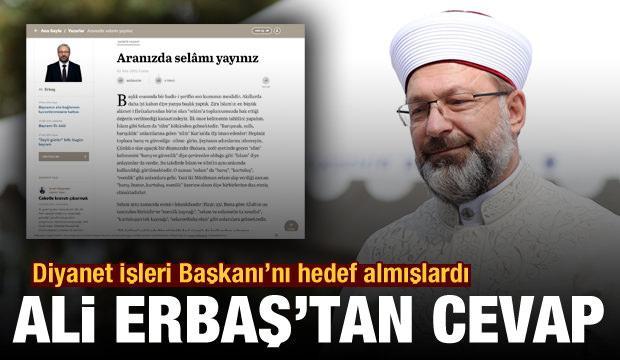 Diyanet İşleri Başkanı Ali Erbaş'tan 'günaydın' eleştirilerine cevap