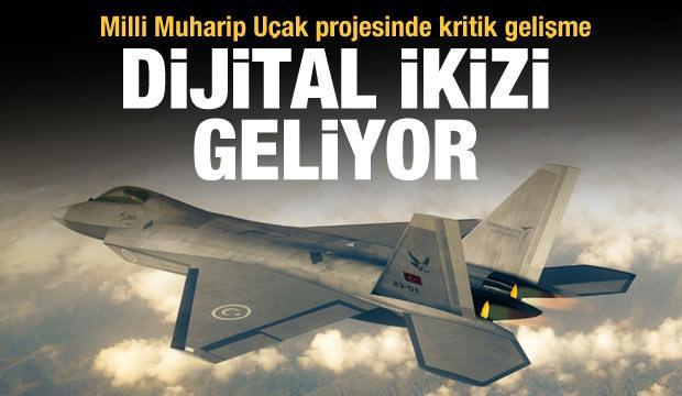 Milli savaş uçağının dijital ikizi geliyor