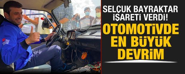"""Selçuk Bayraktar işareti verdi! """"Otomotivdeki en büyük devrim"""""""