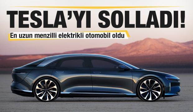 Tesla'yı solladı! En uzun menzilli elektrikli otomobil oldu
