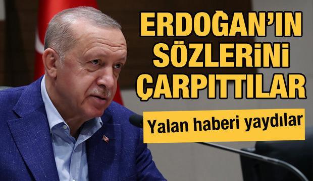 Yol Tv Cumhurbaşkanı Erdoğan'ın sözlerini çarpıttı