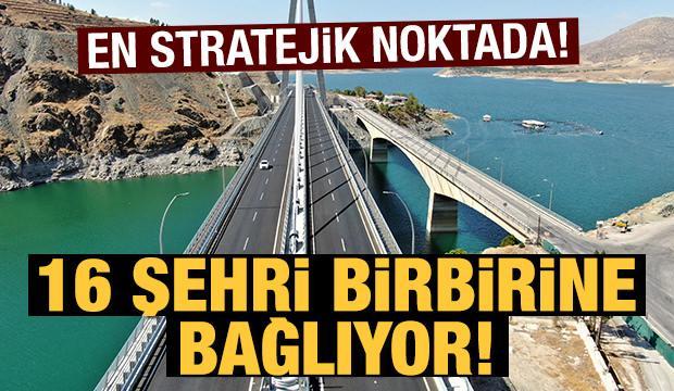 16 şehri birbirine bağlayan Kömürhan Köprüsü sürücülere kolaylık sağlıyor!