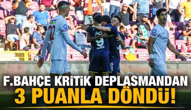 Fenerbahçe kritik Hatay deplasmanından 3 puanla döndü!