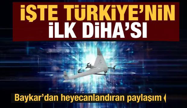 Baykar'dan heyecanlandıran paylaşım! İşte Türkiye'nin ilk DİHA'sı