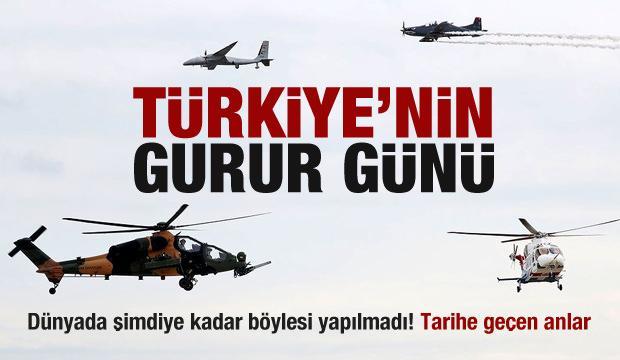Bu gurur Türkiye'nin! Tarihe geçen anlar...