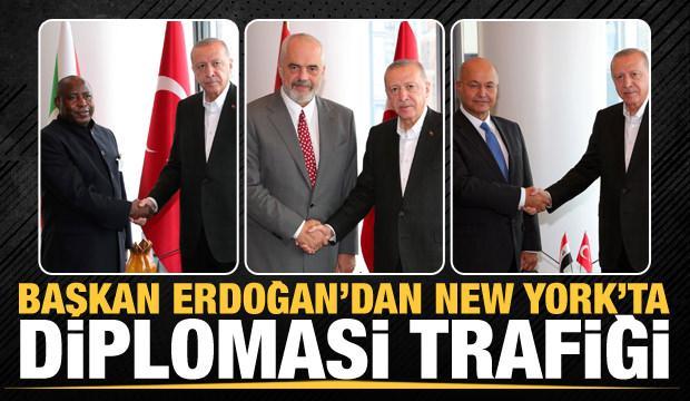 Cumhurbaşkanı Erdoğan'dan New York'ta üst düzey temaslar