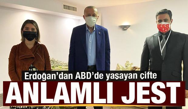 Erdoğan'dan ABD'de yaşayan Trabzonlu çifte anlamlı jest