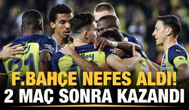Fenerbahçe 2 maç sonra kazandı!