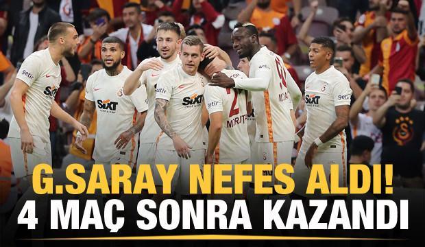 Galatasaray 4 maç sonra kazandı!