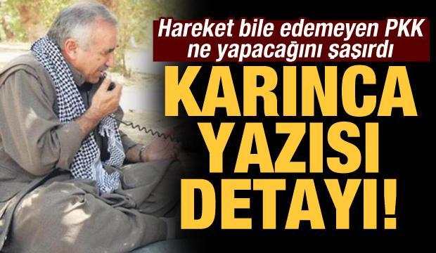 """Hareket bile edemeyen PKK ne yapacağını şaşırdı! """"Karınca yazısı"""" detayı"""