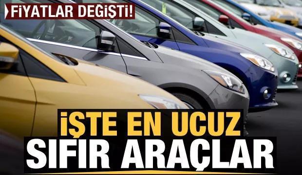 İşte Türkiye'de satılan en ucuz sıfır otomobiller